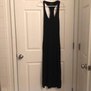 Long black tee dress